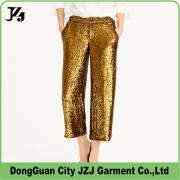 JZJ OEM FACTORY CUSTOM WOMEN SEQUIN LIGHT FASHION LONG PANTS