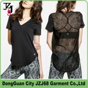 J00350 JZJ68 OEM CUSTOM WOMEN LACE SPORT HOT LONG TOPS
