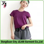 J00349 JZJ68 OEM CUSTOM WOMEN SPORT LOOSE TOPS QUICK DRY